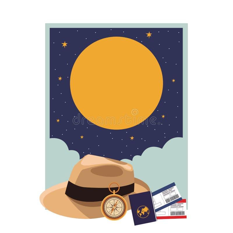 Icona del cappello di Panama royalty illustrazione gratis
