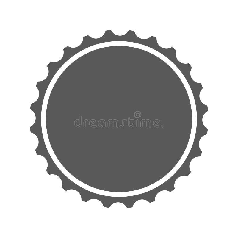 Icona del cappuccio della birra semplice illustrazione vettoriale