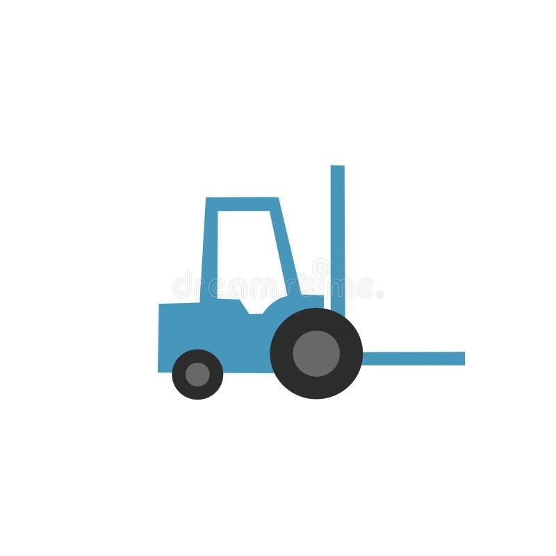 Icona del caricatore, icona del carrello elevatore Illustrazione di vettore isolata su priorità bassa bianca illustrazione di stock
