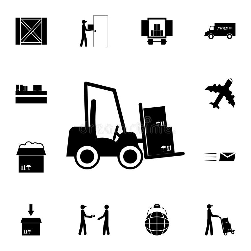 Icona del caricatore del magazzino Insieme dettagliato delle icone logistiche Icona premio di progettazione grafica di qualità Un illustrazione vettoriale