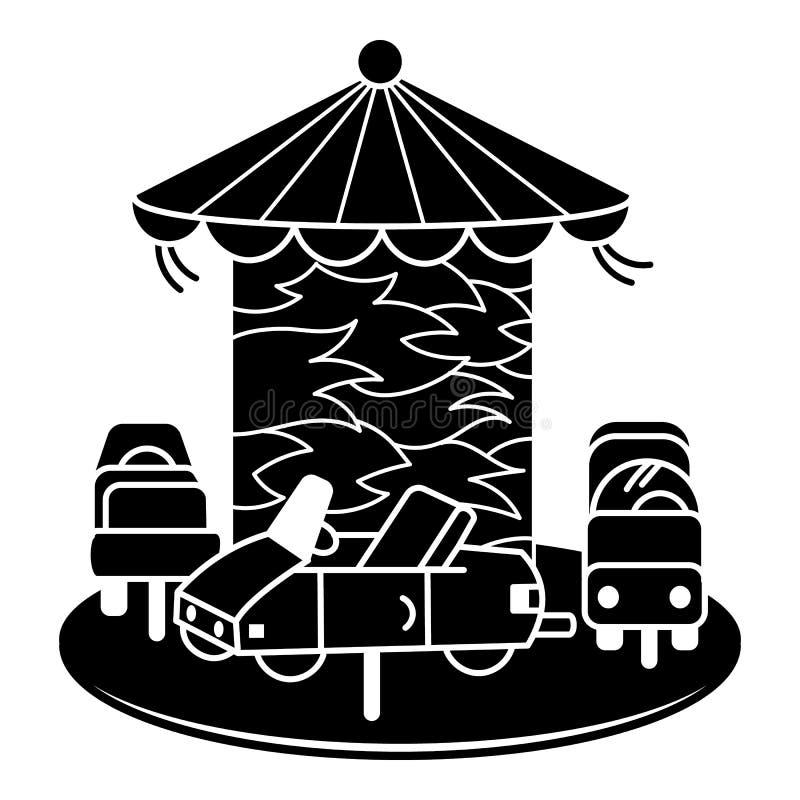 Icona del carosello dell'automobile, stile semplice illustrazione di stock
