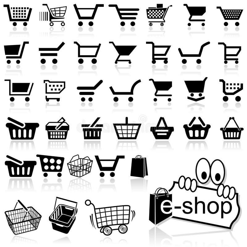 Icona del carrello illustrazione di stock