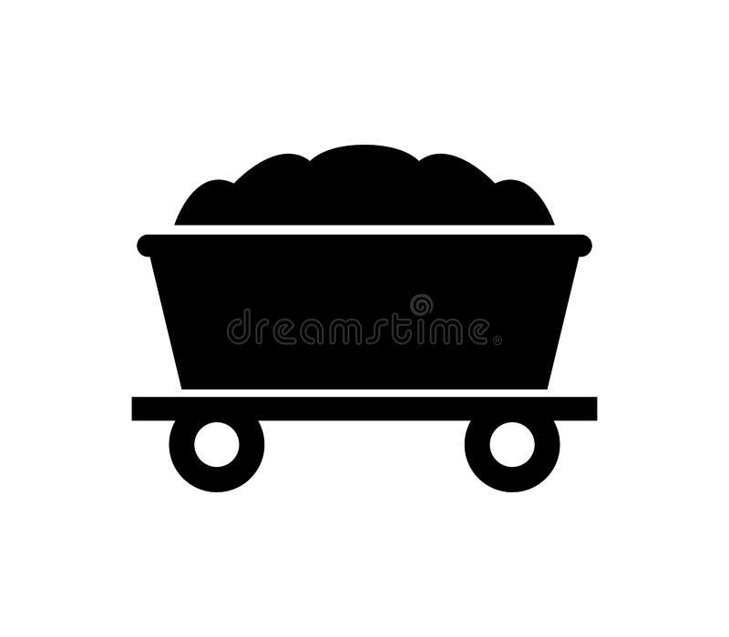 Icona del carrello della miniera royalty illustrazione gratis