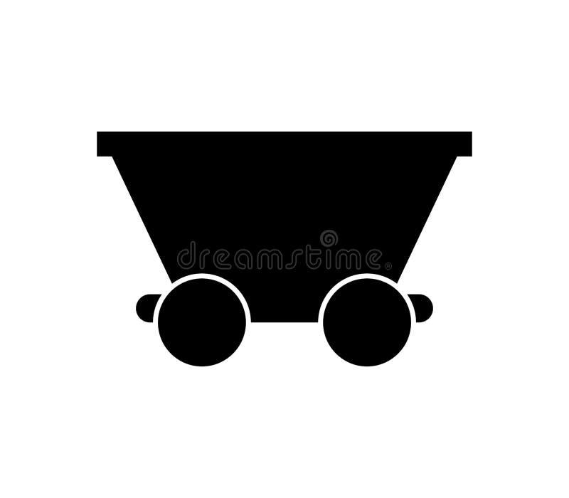 Icona del carrello della miniera illustrazione vettoriale