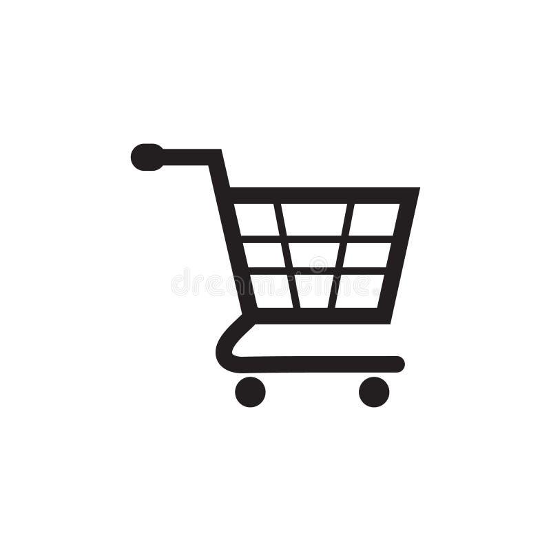 Icona del carrello di acquisto Icona del carrello illustrazione vettoriale
