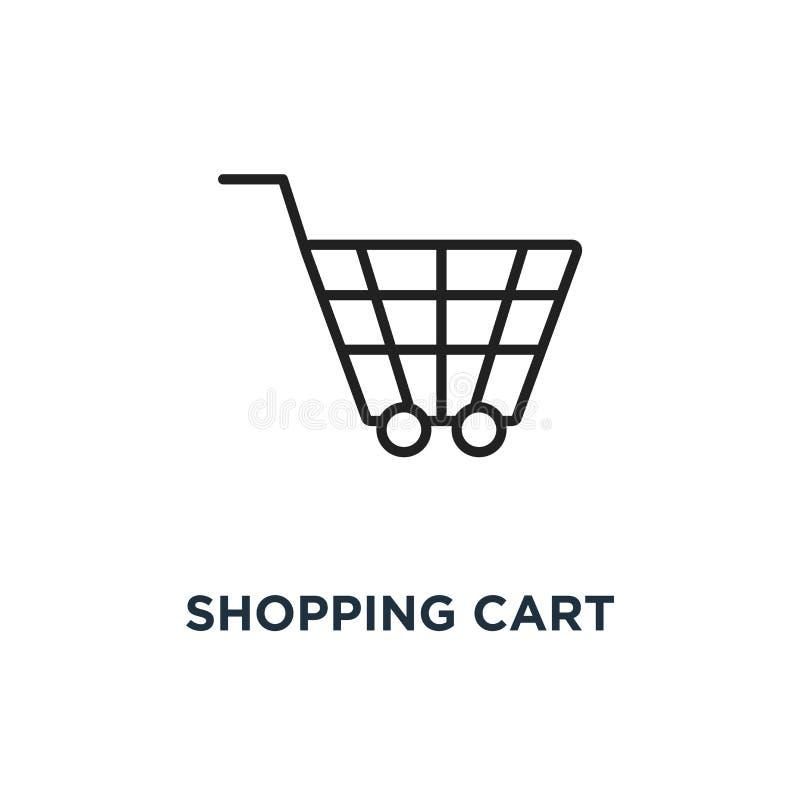 Icona del carrello di acquisto progettazione di simbolo di concetto del carrello, vettore illustrazione vettoriale