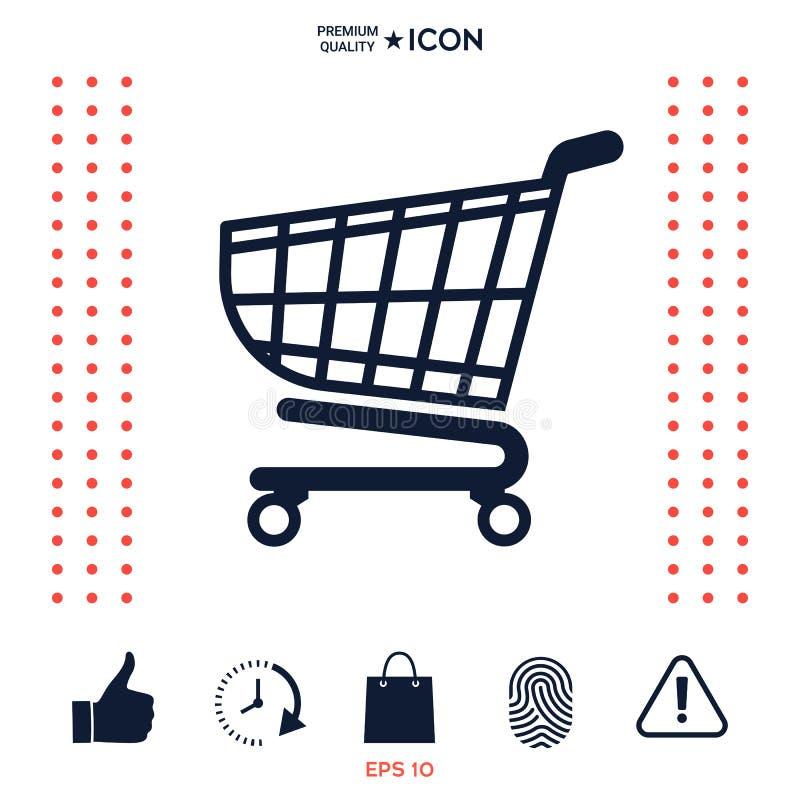 Download Icona Del Carrello, Progettazione Del Cestino Della Spesa, Icona Del Carrello Illustrazione Vettoriale - Illustrazione di servizio, segno: 117976878