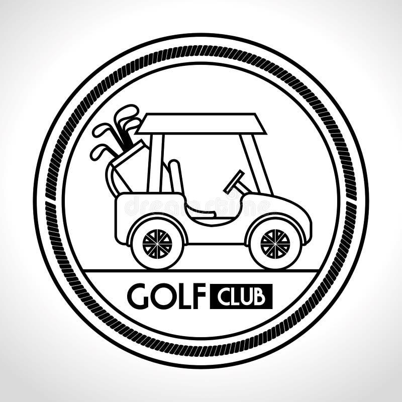 icona del carretto del club di golf royalty illustrazione gratis