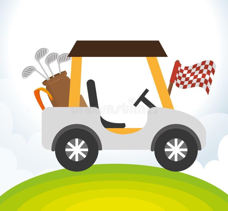icona del carretto del club di golf illustrazione vettoriale