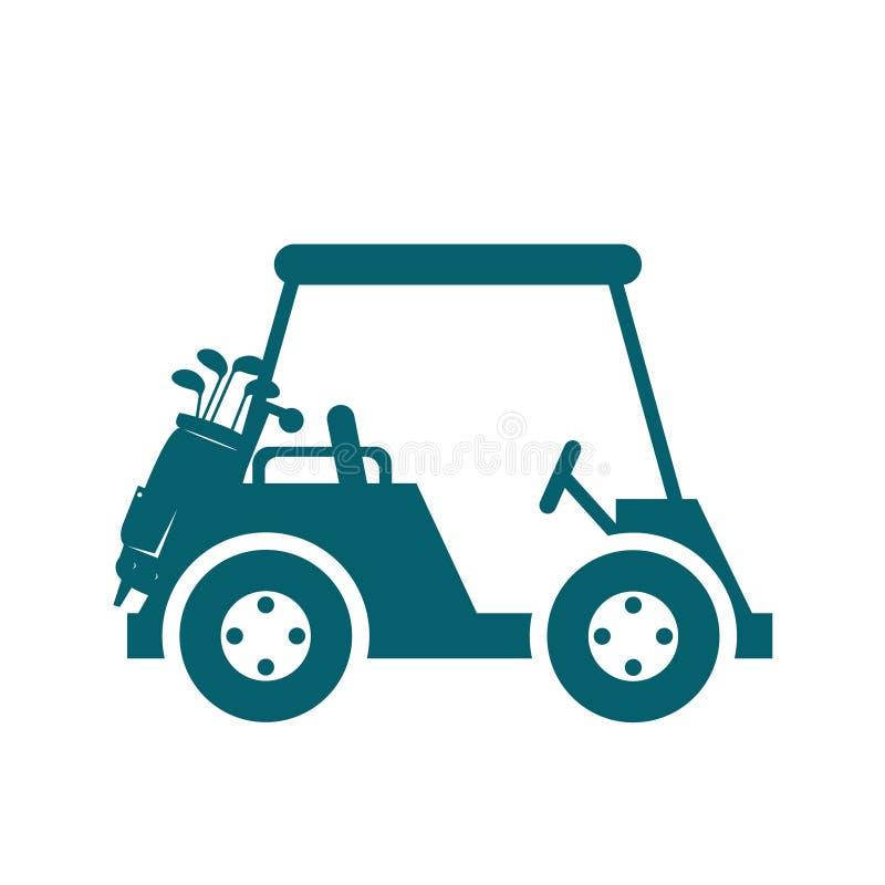 icona del carretto del club di golf illustrazione di stock