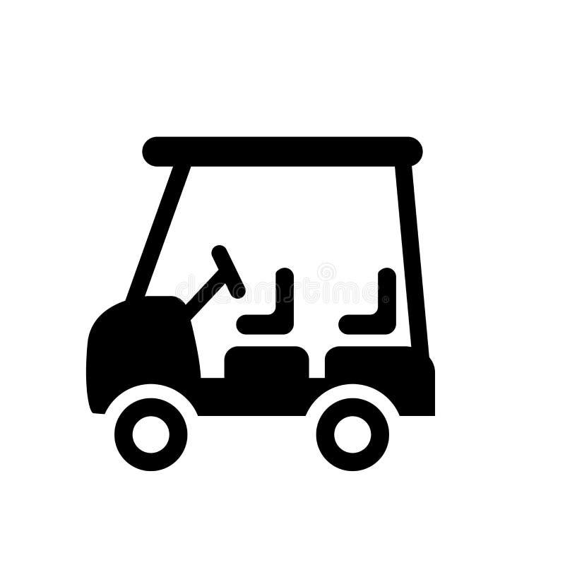 Icona del carretto di golf  illustrazione di stock