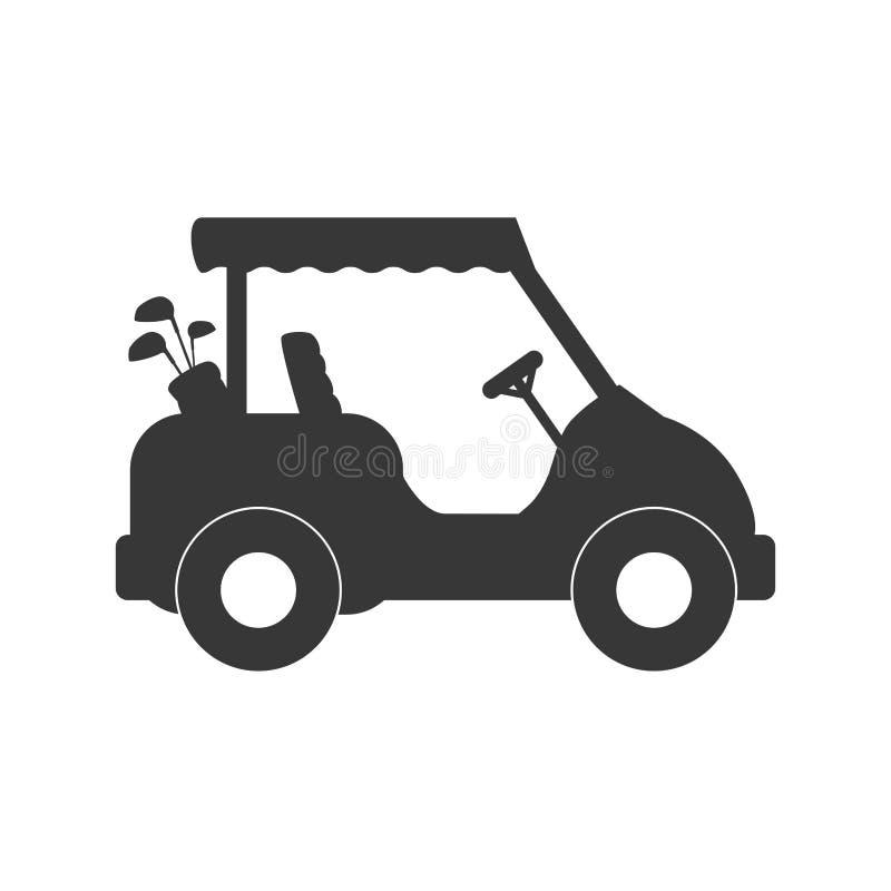 Icona del carretto di golf Concetto di sport Grafico di vettore illustrazione vettoriale