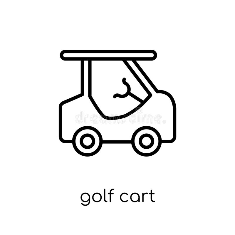 Icona del carretto di golf dalla raccolta illustrazione di stock