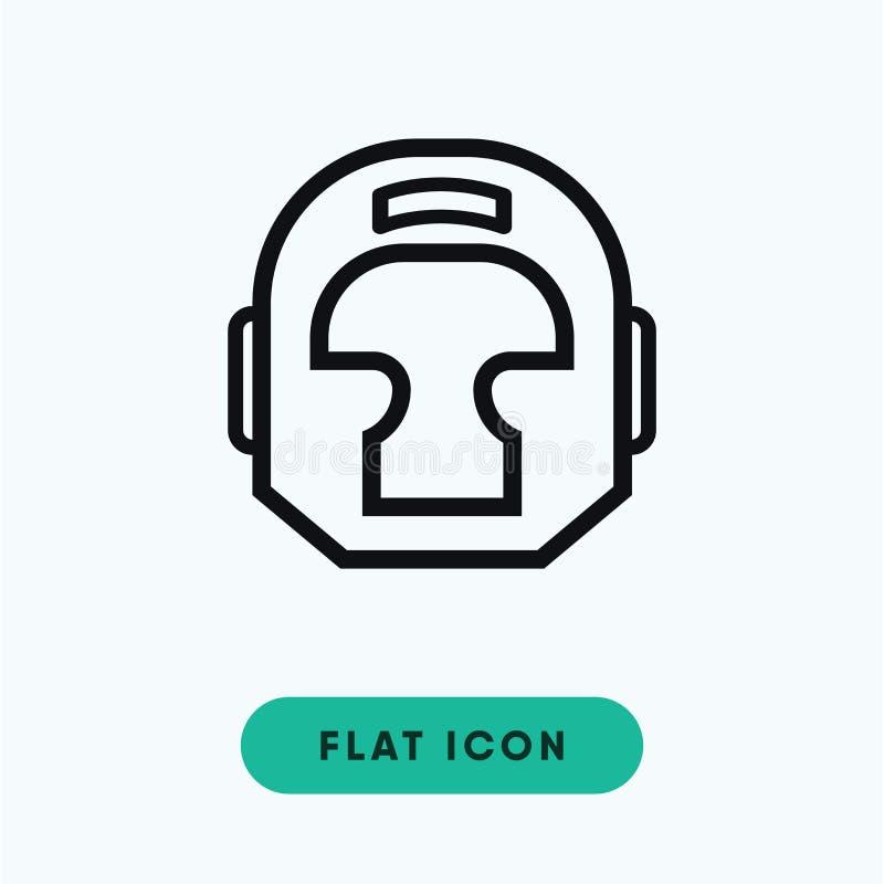 Icona del casco dell'hockey immagini stock