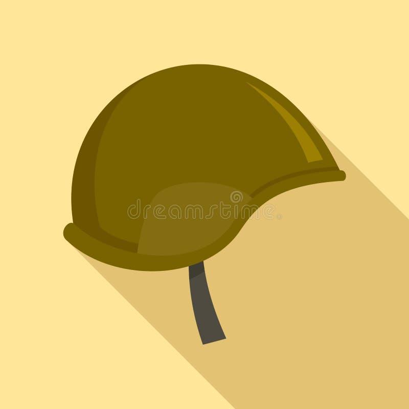 Icona del casco della forza speciale, stile piano royalty illustrazione gratis
