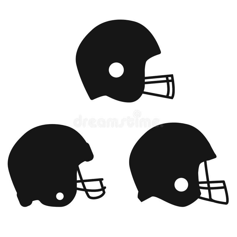 icona del casco di calcio su fondo bianco Stile piano icona per la vostra progettazione del sito Web, logo, app, UI di sport del  illustrazione di stock