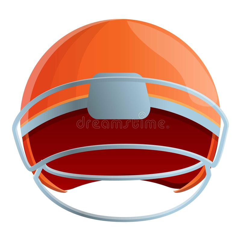 Icona del casco di football americano, stile del fumetto royalty illustrazione gratis