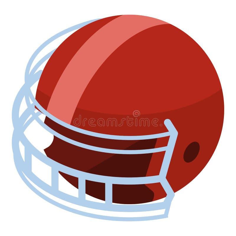 Icona del casco di football americano, stile isometrico illustrazione di stock