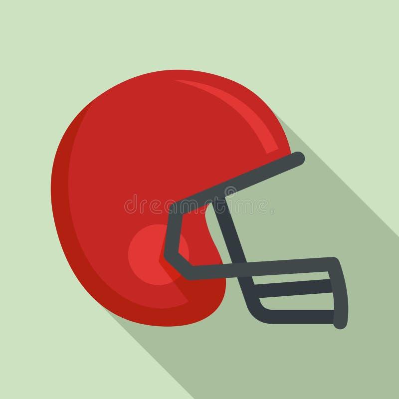 Icona del casco di football americano, stile piano royalty illustrazione gratis