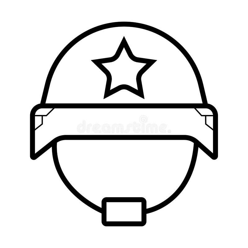 Icona del casco del soldato illustrazione vettoriale