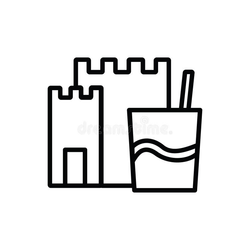 Icona del castello della sabbia illustrazione vettoriale