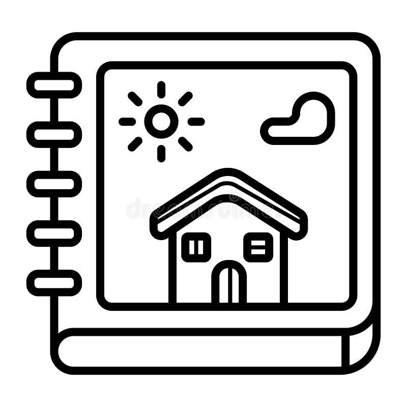 Icona del catalogo della proprietà illustrazione di stock