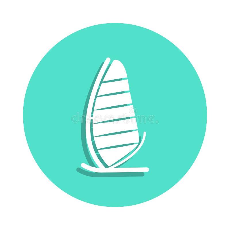 icona del catamarano di navigazione nello stile del distintivo Uno dell'icona della raccolta di viaggio può essere usato per UI,  illustrazione di stock