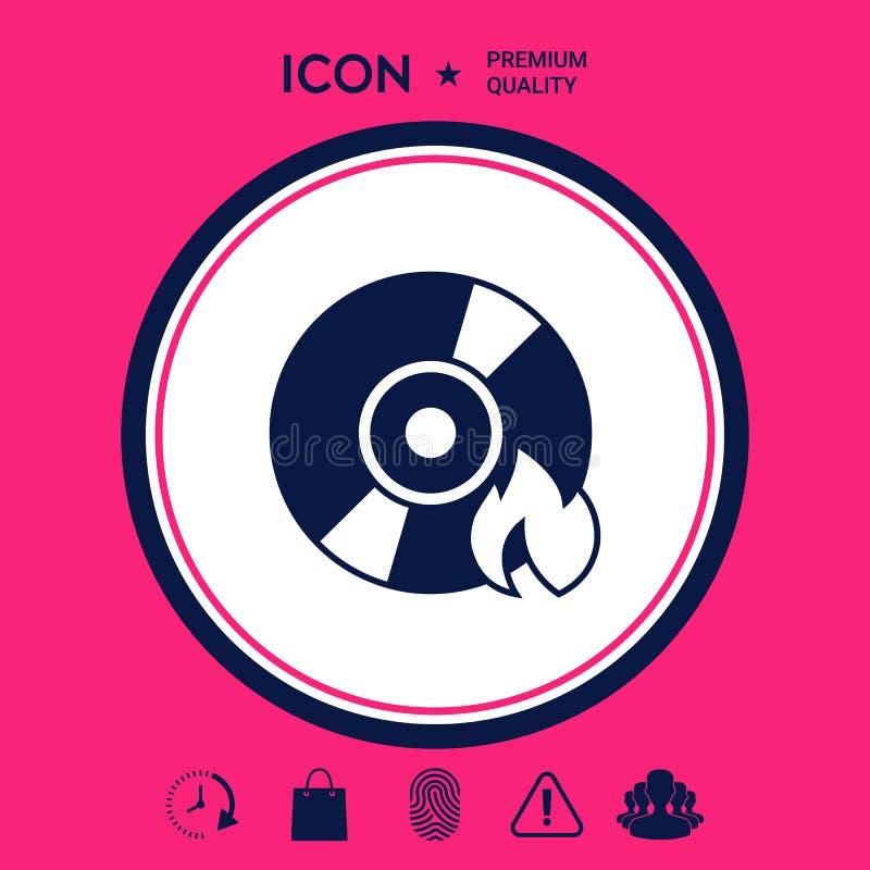 Icona del CD o di DVD dell'ustione royalty illustrazione gratis