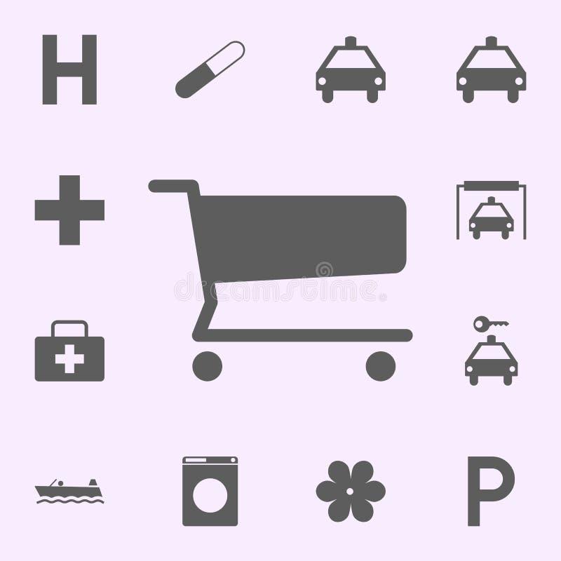 icona del centro commerciale del posto segni dell'insieme universale delle icone dei perni per il web ed il cellulare royalty illustrazione gratis