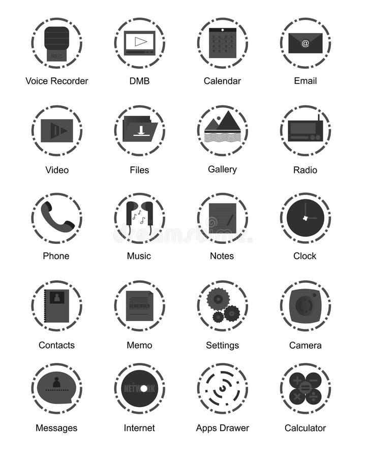 Icona del cerchio con scuro e grigio immagine stock