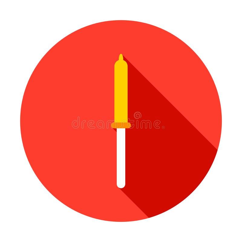 Icona del cerchio della pipetta illustrazione vettoriale