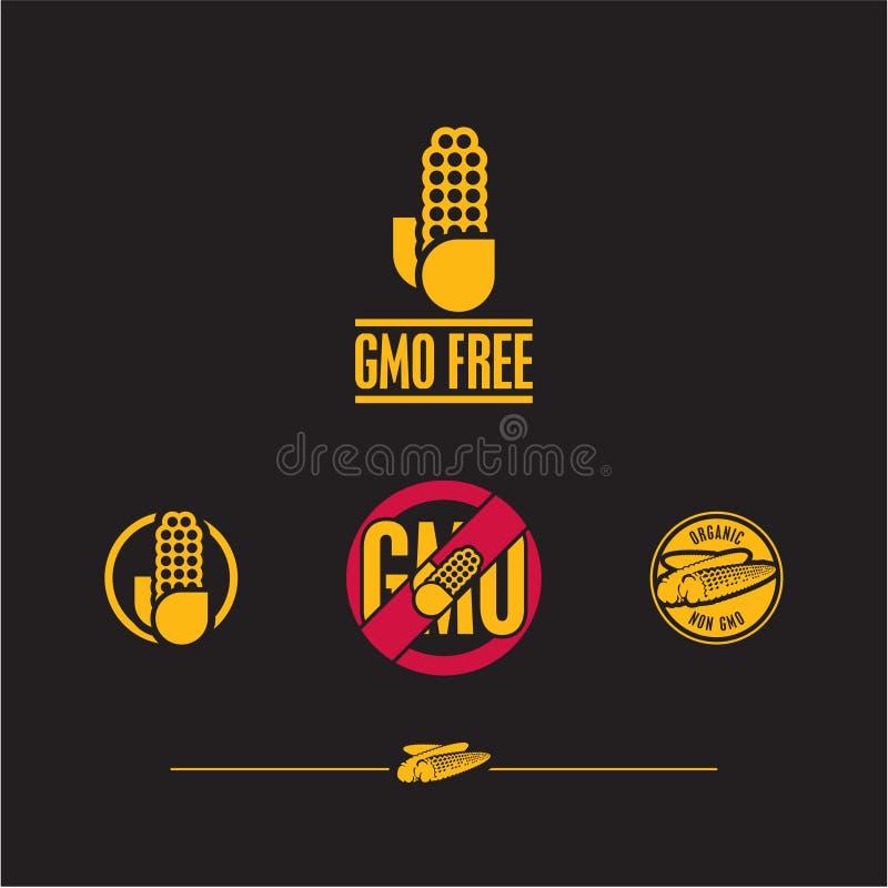 Icona del cereale Il GMO libera il segno royalty illustrazione gratis