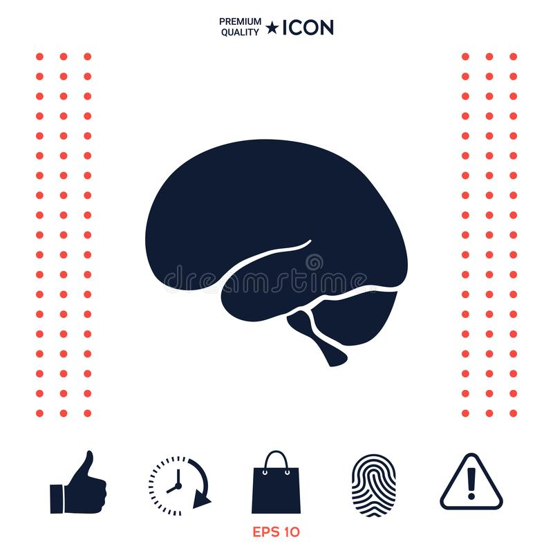 Download Icona del cervello umano illustrazione vettoriale. Illustrazione di sensi - 117975617