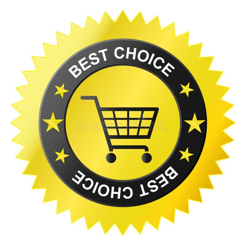 Icona del cestino del negozio, illustrazione di stock
