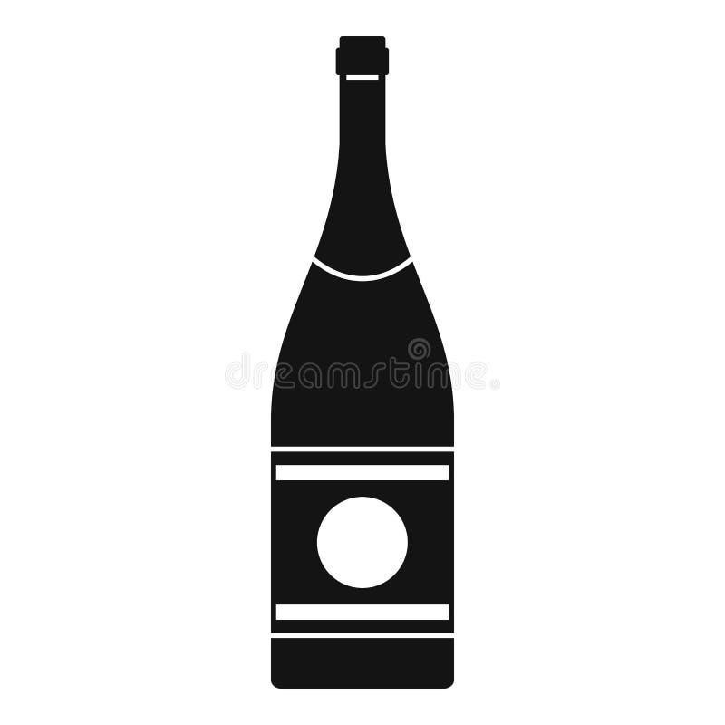 Icona del champagne dell'elite, stile semplice royalty illustrazione gratis