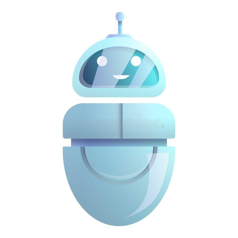 Icona del chatbot di Smartphone, stile del fumetto illustrazione vettoriale