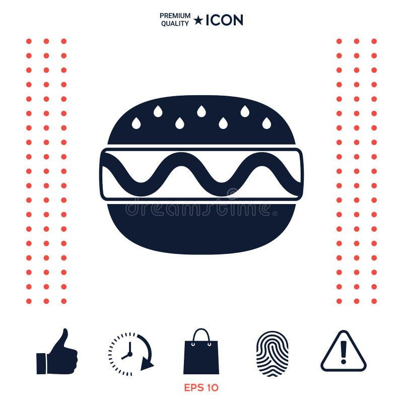 Download Icona Del Cheeseburger O Dell'hamburger Illustrazione Vettoriale - Illustrazione di alimento, panino: 117975230