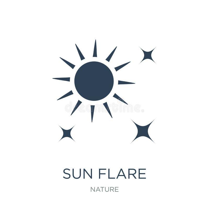 icona del chiarore del sole nello stile d'avanguardia di progettazione icona del chiarore del sole isolata su fondo bianco piano  illustrazione di stock