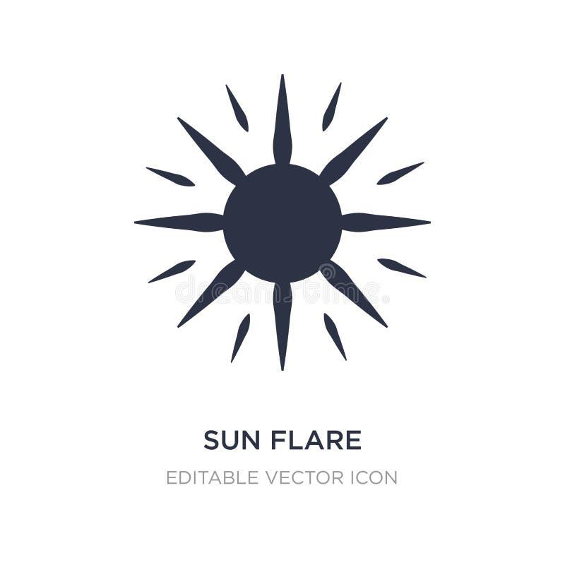 icona del chiarore del sole su fondo bianco Illustrazione semplice dell'elemento dal concetto della natura illustrazione vettoriale