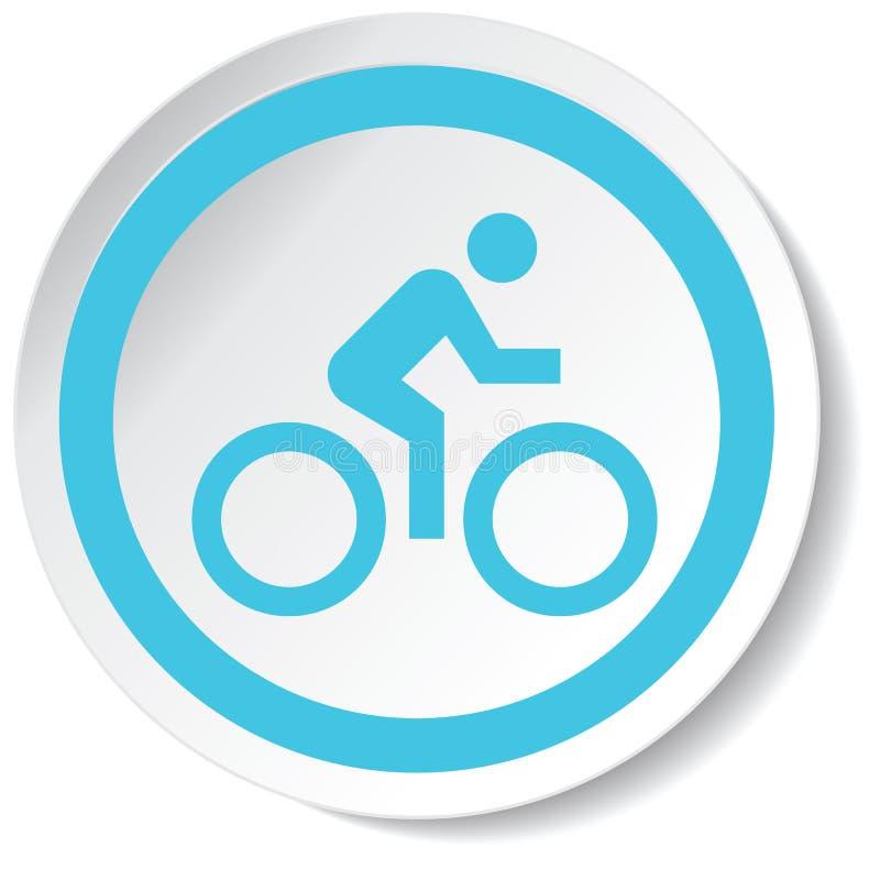 Icona del ciclista fotografia stock libera da diritti