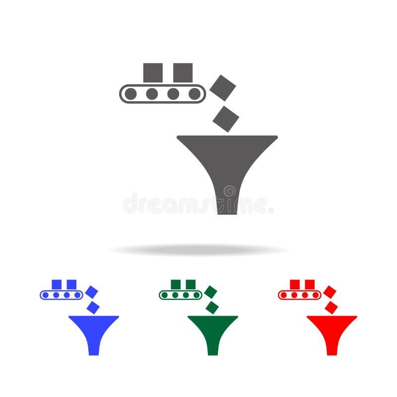 icona del ciclo di produzione Elementi nelle multi icone colorate per i apps mobili di web e di concetto Icone per progettazione  royalty illustrazione gratis