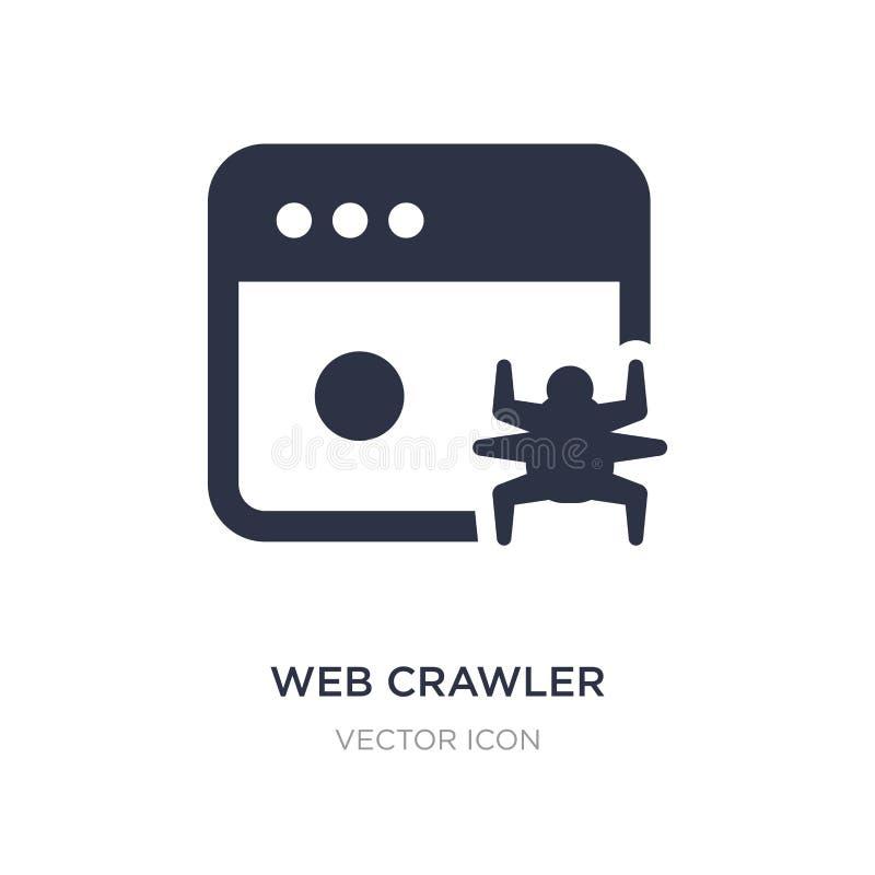 icona del cingolo di web su fondo bianco Illustrazione semplice dell'elemento dal concetto di UI illustrazione di stock