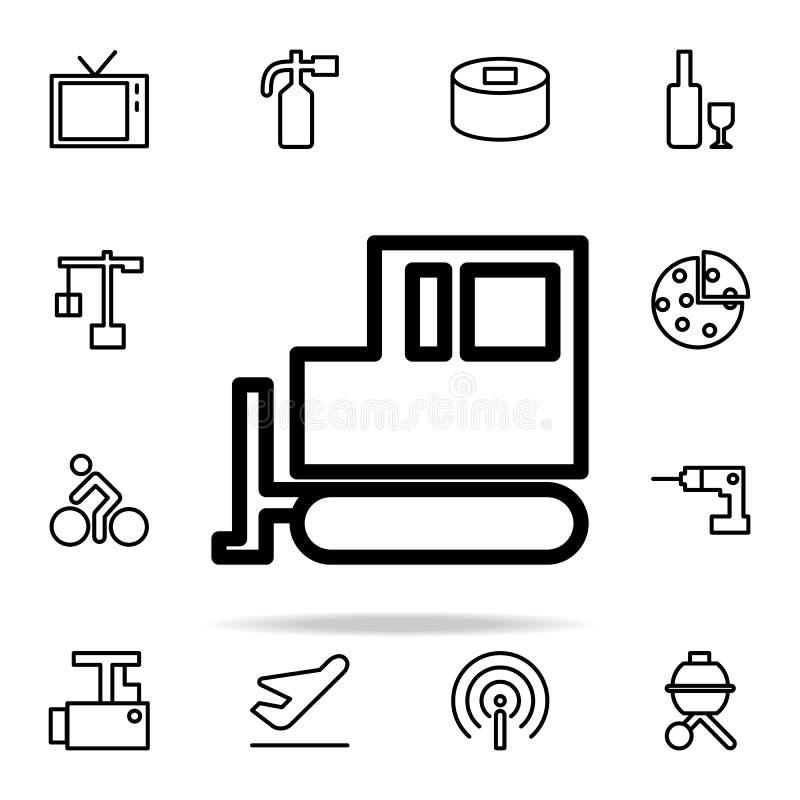 icona del cingolo del trattore insieme universale delle icone di web per il web ed il cellulare illustrazione di stock