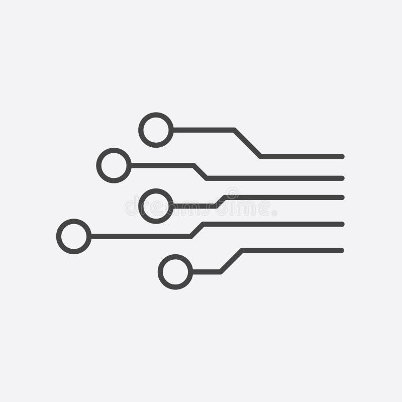 Icona del circuito Illustr piano di vettore di simbolo di schema di tecnologia illustrazione vettoriale