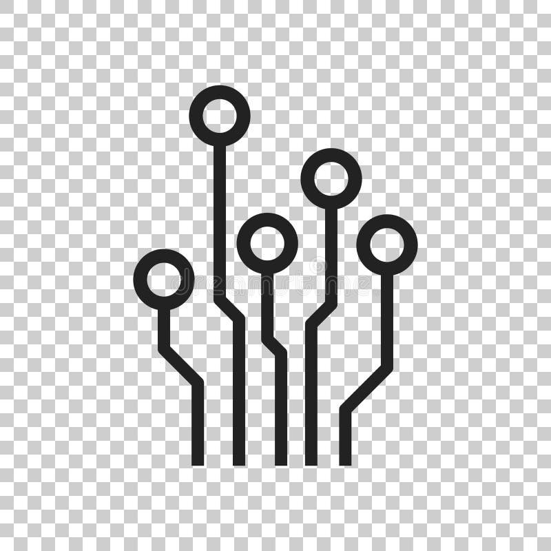 Icona del circuito Illustr piano di vettore di simbolo di schema di tecnologia royalty illustrazione gratis