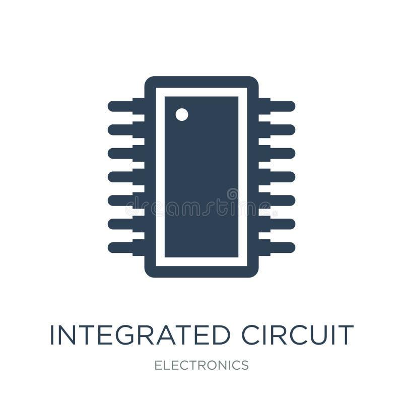 icona del circuito integrato nello stile d'avanguardia di progettazione icona del circuito integrato isolata su fondo bianco vett illustrazione di stock
