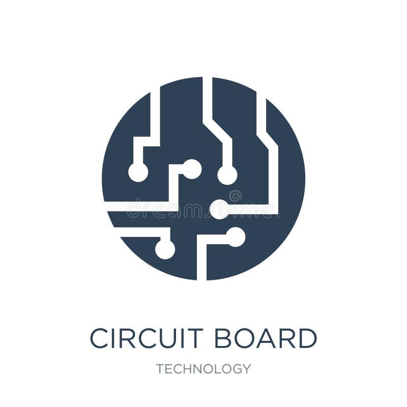 icona del circuito nello stile d'avanguardia di progettazione icona del circuito isolata su fondo bianco icona di vettore del cir illustrazione vettoriale