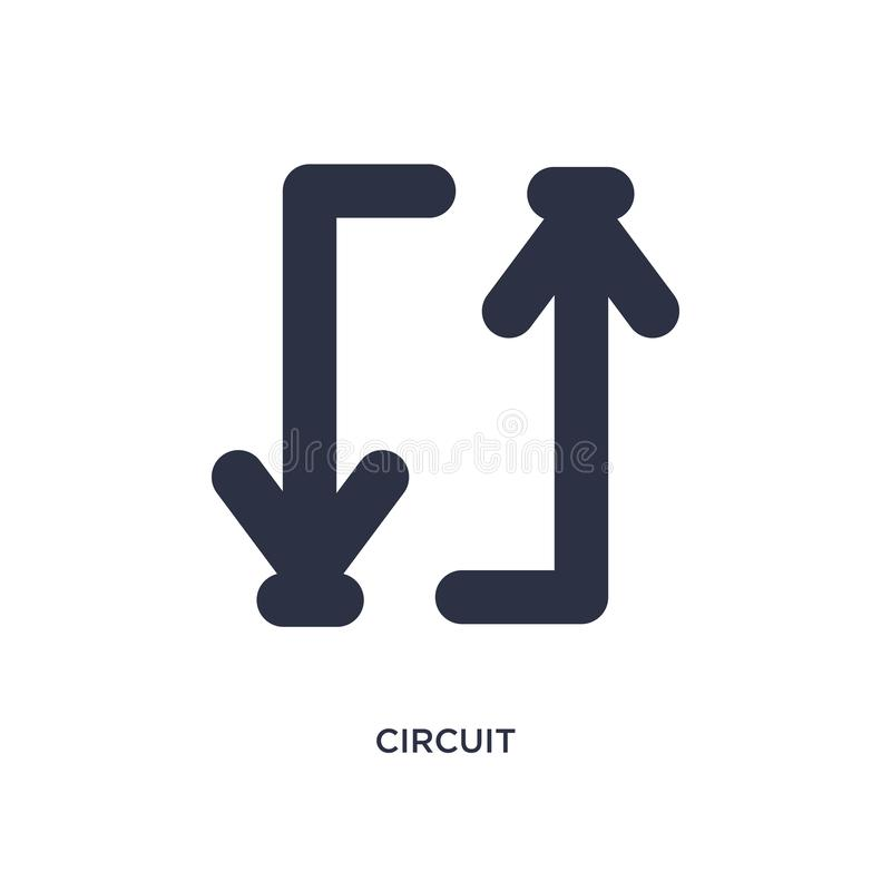 icona del circuito su fondo bianco Illustrazione semplice dell'elemento dal concetto delle frecce 2 illustrazione di stock