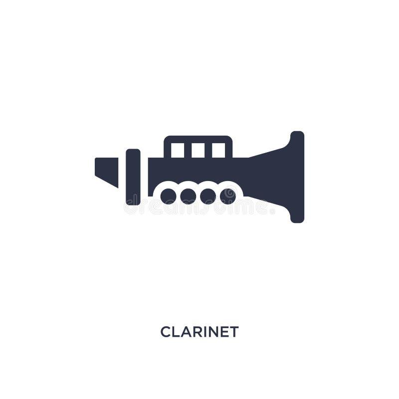 icona del clarinetto su fondo bianco Illustrazione semplice dell'elemento dal concetto di musica royalty illustrazione gratis