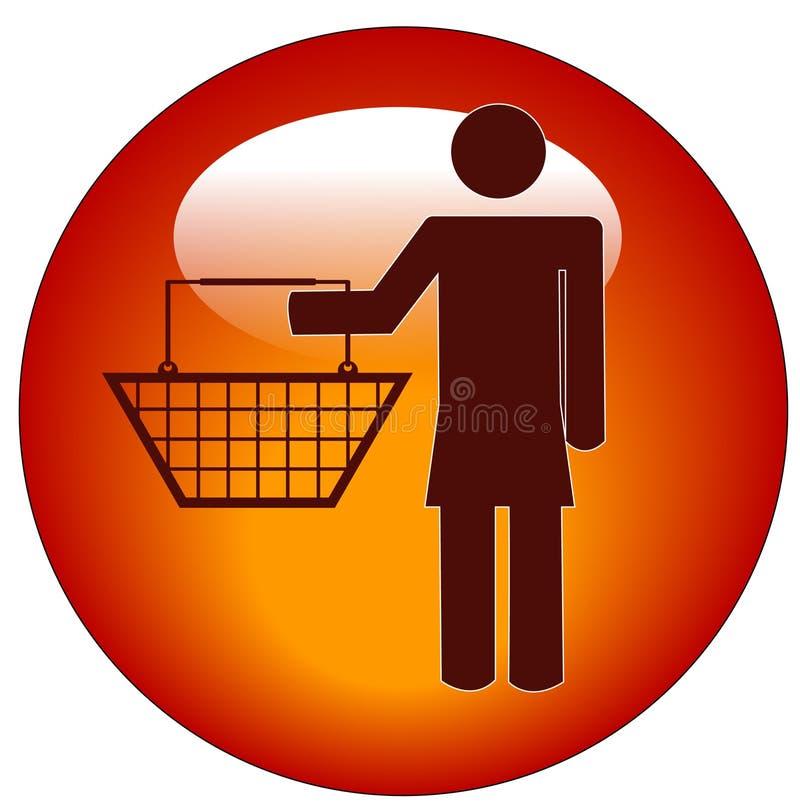 Icona del cliente della donna illustrazione di stock
